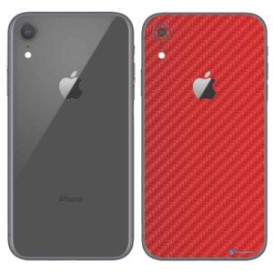 iPhone XR Apple Adesivo Skin Película Fibra Vermelho