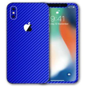 iPhone XS Apple Adesivo Skin Película Fibra Azul