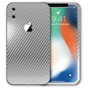 iPhone XS Apple Adesivo Skin Película Fibra Cromo