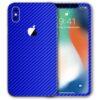 iPhone XS Max Apple Adesivo Skin Película Fibra Azul