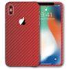 iPhone XS Max Apple Adesivo Skin Película Fibra Vermelho