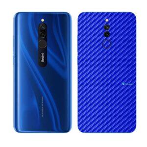 Xiaomi Redmi 8 Adesivo Skin Película Fibra Azul