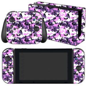 Adesivo Skin Película Nintendo Swicht Camo Purple Roxo