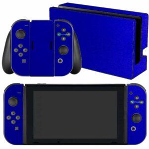 Adesivo Skin Película Nintendo Swicht Metalico Brilho Azul