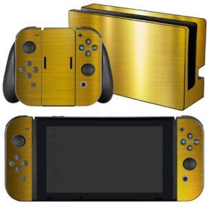 Adesivo Skin Película Nintendo Swicht Ouro Cromo Escovado