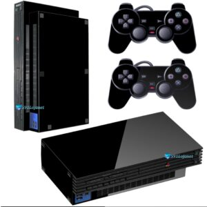 Adesivo Skin Playstation 2 PS2 Fat Pelicula Brilho Vinil Cor Black Piano