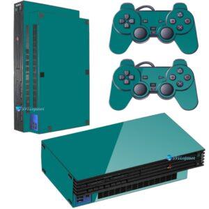 Adesivo Skin Playstation 2 PS2 Fat Pelicula Brilho Vinil Cor Verde Dark