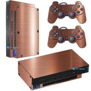 Adesivo Skin Playstation 2 PS2 Fat Pelicula Bronze Escovado