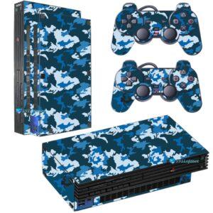 Adesivo Skin Playstation 2 PS2 Fat Pelicula Camo Blue