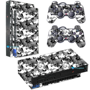 Adesivo Skin Playstation 2 PS2 Fat Pelicula Camo Ghost