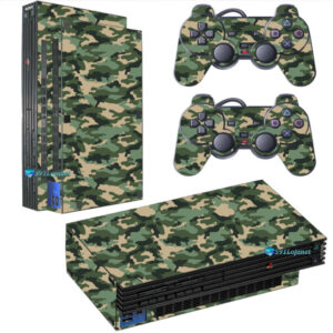 Adesivo Skin Playstation 2 PS2 Fat Pelicula Camo Green Tradicional