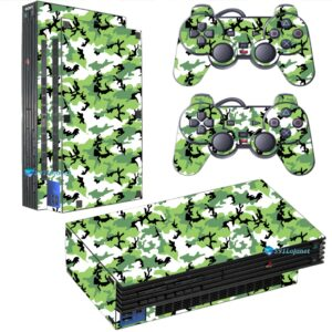 Adesivo Skin Playstation 2 PS2 Fat Pelicula Camo Green