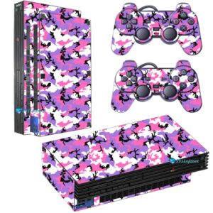 Adesivo Skin Playstation 2 PS2 Fat Pelicula Camo Lilac