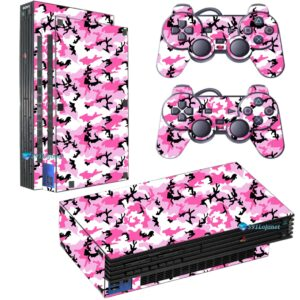 Adesivo Skin Playstation 2 PS2 Fat Pelicula Camo Pink