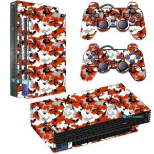 Adesivo Skin Playstation 2 PS2 Fat Pelicula Camo Red