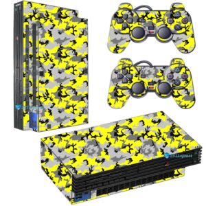 Adesivo Skin Playstation 2 PS2 Fat Pelicula Camo Yellow
