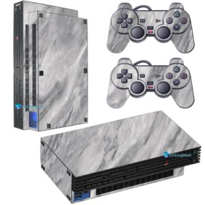 Adesivo Skin Playstation 2 PS2 Fat Pelicula Marmore Carrara