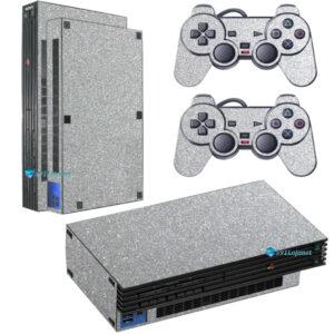 Adesivo Skin Playstation 2 PS2 Fat Pelicula Metalico Brilho Cinza
