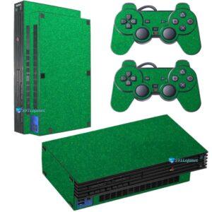Adesivo Skin Playstation 2 PS2 Fat Pelicula Metalico Brilho Verde