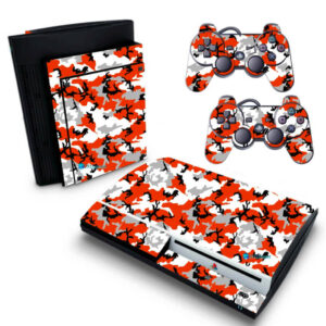 Adesivo Skin Playstation 3 PS3 Fat Pelicula Camo Red