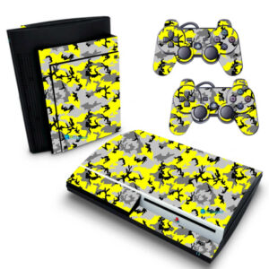 Adesivo Skin Playstation 3 PS3 Fat Pelicula Camo Yellow