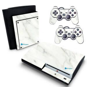 Adesivo Skin Playstation 3 PS3 Fat Pelicula Marmore Bianco