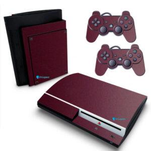 Adesivo Skin Playstation 3 PS3 Fat Pelicula Metalico Malbec