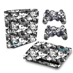 Adesivo Skin Playstation 3 Slim PS3 Pelicula Camo Ghost
