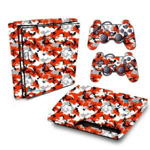 Adesivo Skin Playstation 3 Slim PS3 Pelicula Camo Red
