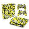 Adesivo Skin Playstation 3 Slim PS3 Pelicula Camo Yellow