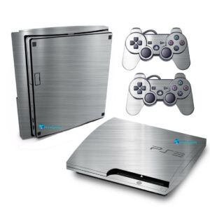 Adesivo Skin Playstation 3 Slim PS3 Pelicula Cromo Escovado
