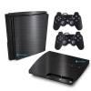 Adesivo Skin Playstation 3 Slim PS3 Pelicula Dark Escovado