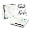 Adesivo Skin Playstation 3 Slim PS3 Pelicula Marmore Bianco