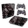 Adesivo Skin Playstation 3 Slim PS3 Pelicula Marmore Nero