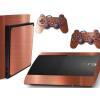 Adesivo Skin Playstation 3 Super Slim PS3 Pelicula Bronze Escovado R