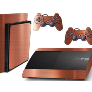 Adesivo Skin Playstation 3 Super Slim PS3 Pelicula Bronze Escovado R