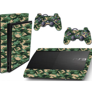 Adesivo Skin Playstation 3 Super Slim PS3 Pelicula Camo Green Tradicional