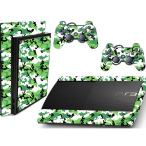 Adesivo Skin Playstation 3 Super Slim PS3 Pelicula Camo Green