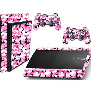 Adesivo Skin Playstation 3 Super Slim PS3 Pelicula Camo Pink