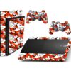 Adesivo Skin Playstation 3 Super Slim PS3 Pelicula Camo Red