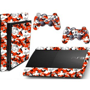 Adesivo Skin Playstation 3 Super Slim PS3 Pelicula Camo Red