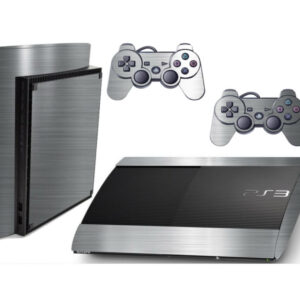 Adesivo Skin Playstation 3 Super Slim PS3 Pelicula Cromo Escovado