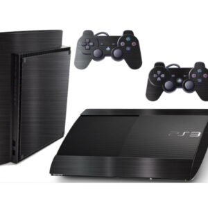 Adesivo Skin Playstation 3 Super Slim PS3 Pelicula Dark Escovado