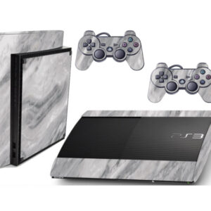 Adesivo Skin Playstation 3 Super Slim PS3 Pelicula Marmore Carrara