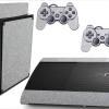 Adesivo Skin Playstation 3 Super Slim PS3 Pelicula Metalico Brilho Cinza