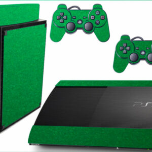 Adesivo Skin Playstation 3 Super Slim PS3 Pelicula Metalico Brilho Verde