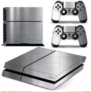 Adesivo Skin Playstation 4 PS4 Fat Pelicula Cromo Escovado