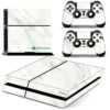 Adesivo Skin Playstation 4 PS4 Fat Pelicula Marmore Bianco