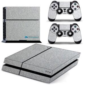 Adesivo Skin Playstation 4 PS4 Fat Pelicula Metalico Brilho Cinza