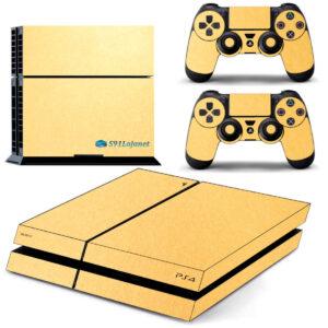 Adesivo Skin Playstation 4 PS4 Fat Pelicula Metalico Brilho Gold